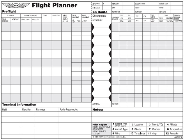 Flight Plan Template Vfr Flight Plan Template Sample Flight Plan
